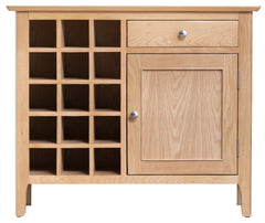 Oslo Oak Wine Cabinet with Storage