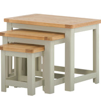 Portland Oak Nest of 3 Tables - The Rocking Chair