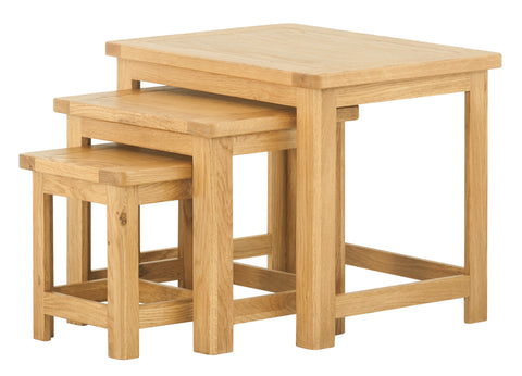 Portland Oak Nest of Tables