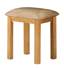 Portland Oak Dressing Table  Fabric Stool - The Rocking Chair