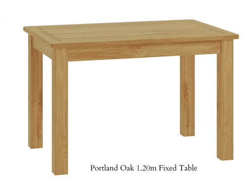 Portland Oak Fixed Top Dining Table