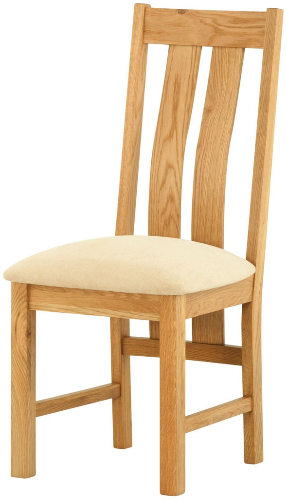 Portland Oak Dining Chair with Fabric Seat Pad