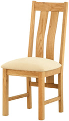 Portland Oak Dining Chair with Fabric Seat Pad - The Rocking Chair