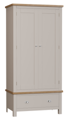 Radnor Oak & Painted Bedroom Gents Wardrobe with 1 Drawers
