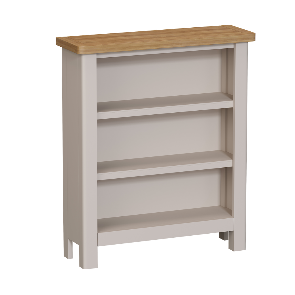 Radnor Oak & Painted Dining Small Wide Bookcase