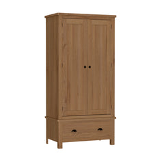 Radnor Oak Bedroom Gents Wardrobe with 1 Drawers