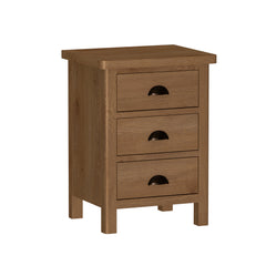 Radnor Oak Bedroom Large 3 Drawer Bedside