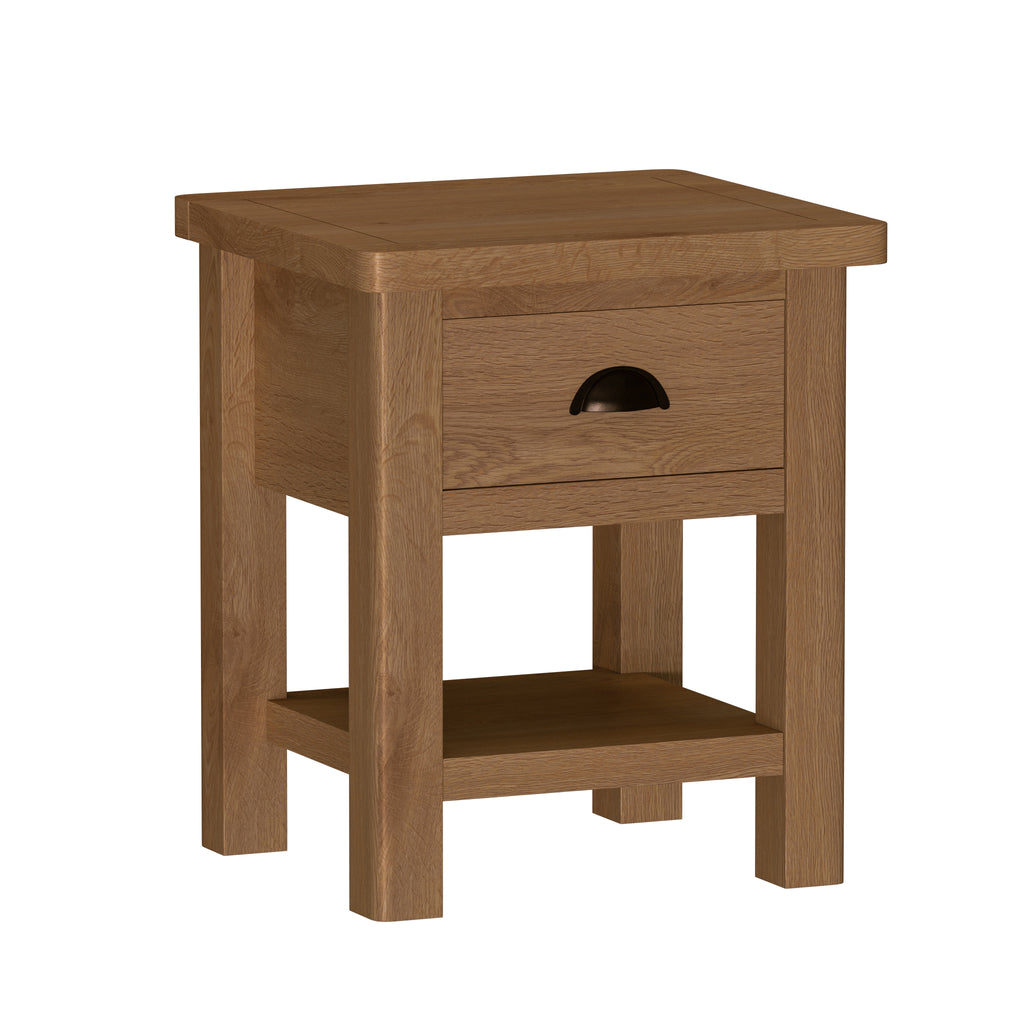 Radnor Oak Dining 1 Drawer Lamp Table