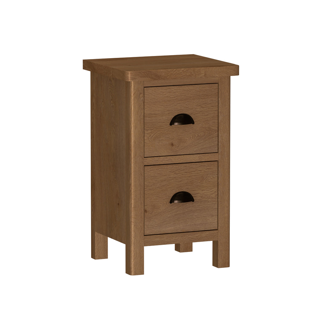 Radnor Oak Bedroom 2 Drawer Bedside