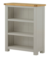 Wood Finish Oak Painted Portland Small Low Bookcase