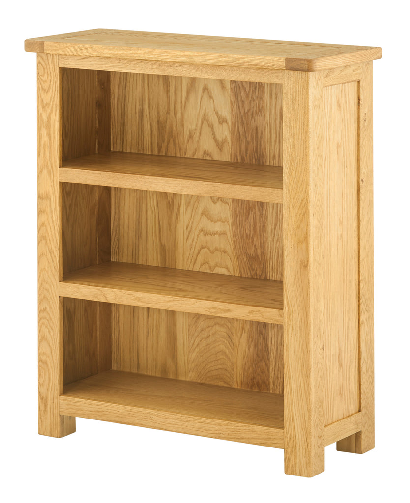 Portland Oak Small Low Bookcase - The Rocking Chair