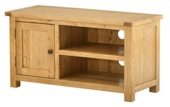 Portland Oak Small TV Cabinet with Door - The Rocking Chair