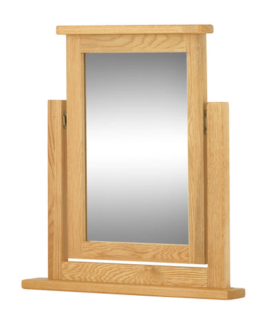 Portland Oak Swivel Dressing Table Mirror
