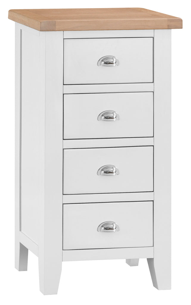 Toronto Painted 4 Drawer Narrow Chest of Drawers