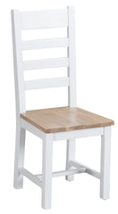 Toronto Painted Ladder Back Chair Solid Seat