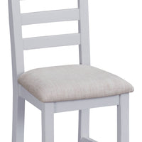 Toronto Painted Ladder Back Chair Fabric Seat