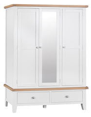 Toronto Painted 3 Door 2 Drawer Wardrobe with Mirror