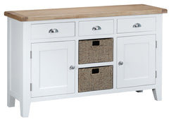 Toronto Painted Large 2 Door 3 Drawer Sideboard with Baskets