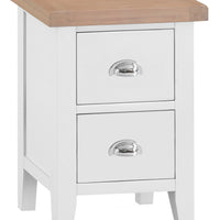 Toronto Painted Small 2 Drawer Bedside