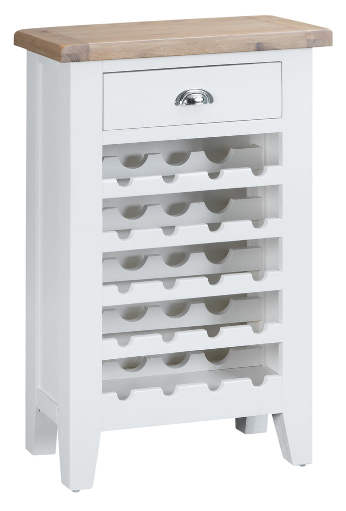 Toronto Painted 20 Bottle Wine Rack with Drawer