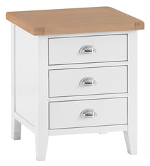 Toronto Painted Extra Large 3 Drawer Bedside