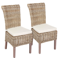 White & Wicker Wicker Chair including Cushion - The Rocking Chair