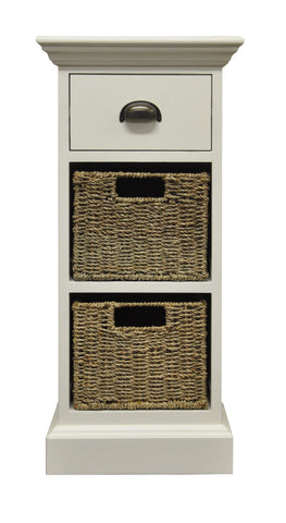Wicker Merchant 1 Drawer 2 Wicker Basket Unit