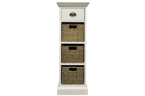 Wicker Merchant 1 Drawer 3 Wicker Basket Unit