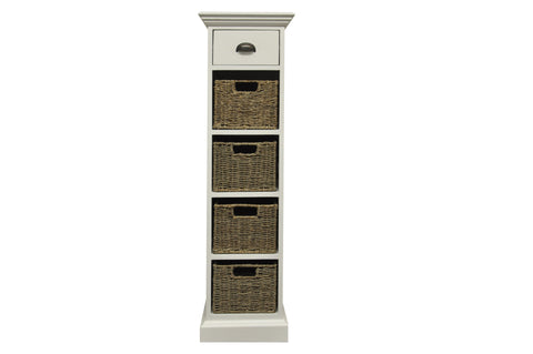Wicker Merchant 1 Drawer 4 Wicker Basket Unit