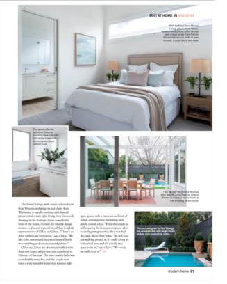 Modern Home feature article on Melbourne artist Chloe Planinsek and the home of her and her husband Julian McCarthy in Malvern, Victoria