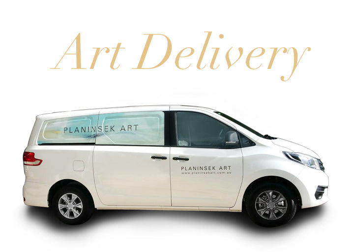 Planinsek Art courier van. Artwork deliveries.