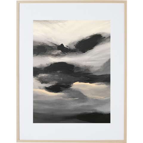 Black Night 1V - Framed Print