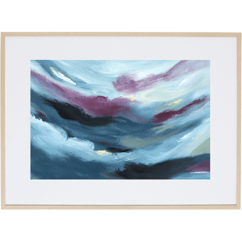 Blue Storm 1H - Framed Print