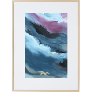 Blue Storm 1V - Framed Print