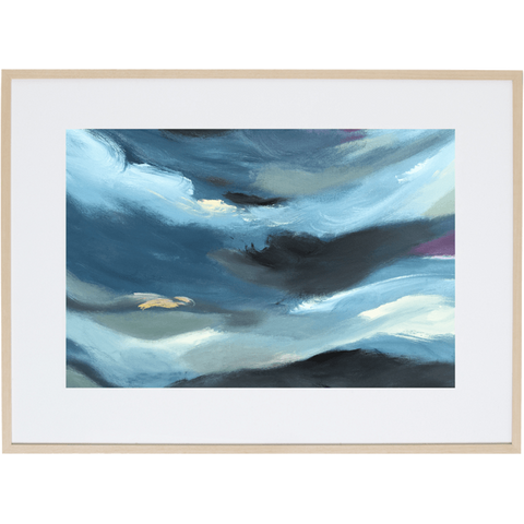 Blue Storm 2H - Framed Print