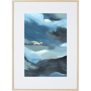 Blue Storm 2V - Framed Print