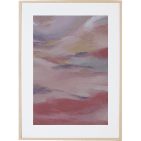 Blush Sky 1V - Framed Print