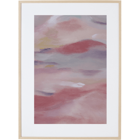 Blush Sky 3V - Framed Print