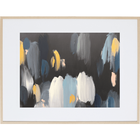 City Blur 1H - Framed Print
