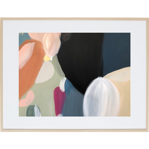 Colour Around Darkness 2H - Framed Print