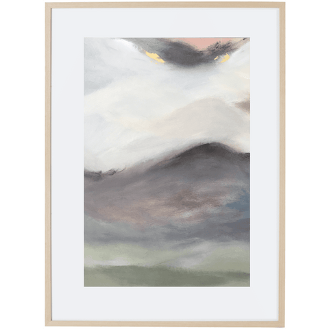 Dreaming At Dusk 4V - Framed Print