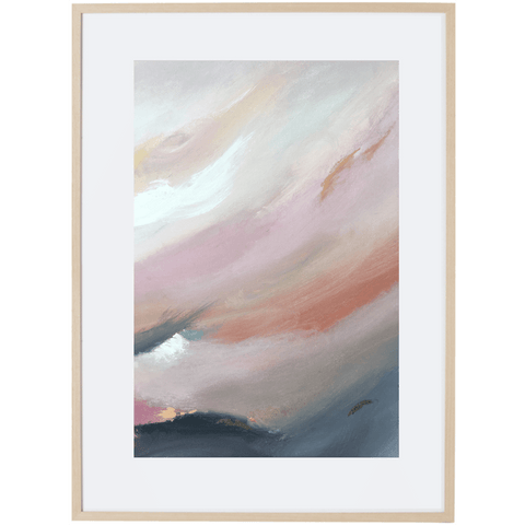 Dusk Approaching 3V - Framed Print