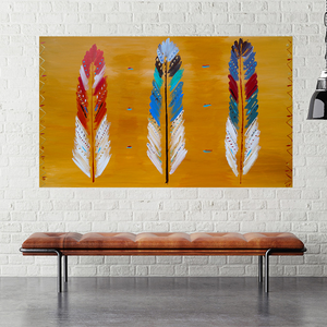 Feather Tribe - 1.5m x 0.9m