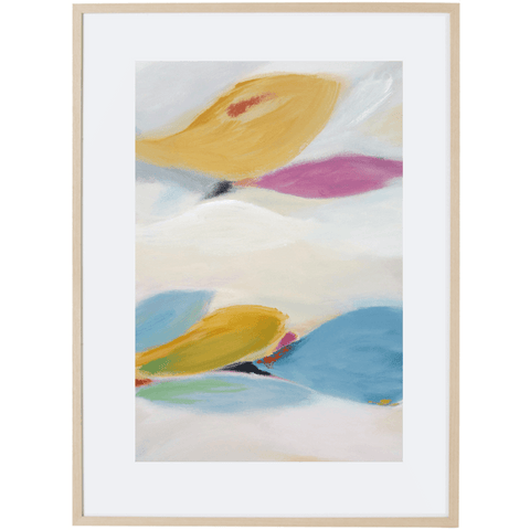 Floating Leaves 1V - Framed Print
