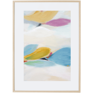 Floating Leaves 2V - Framed Print