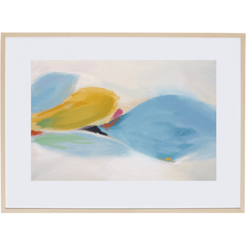 Floating Leaves 3H - Framed Print