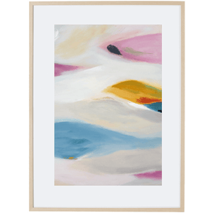 Floating Leaves 3V - Framed Print