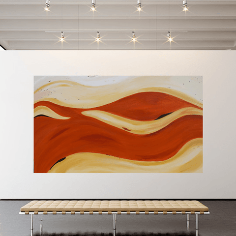 Golden Rush. 2m x 1.2m