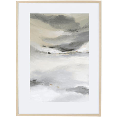 Grey Mist 1V - Framed Print