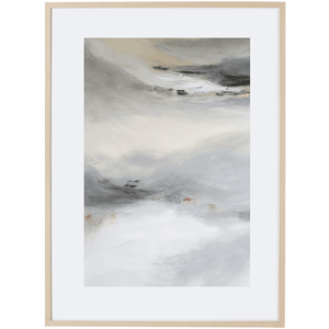 Grey Mist 2V - Framed Print